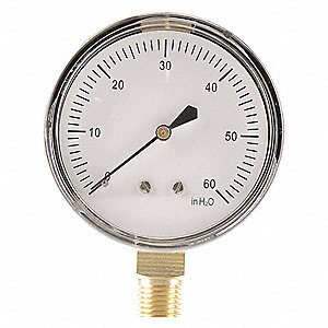 Press Gauge,Low Press Diaphragm,2-1/2 In