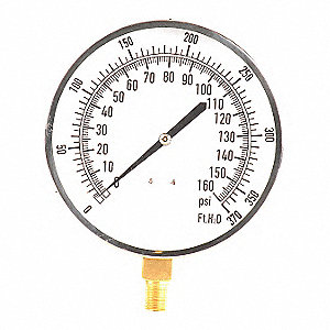 Pressure Gauge,Altitude,4-1/2 In