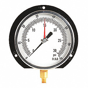 "6"" Altitude Pressure Gauge, 0 to 30 psi"
