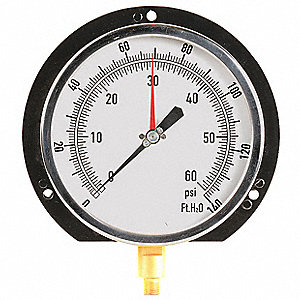 "6"" Altitude Pressure Gauge, 0 to 60 psi"
