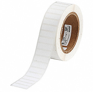 "Label, White, 1-1/4""W x 3/8"""