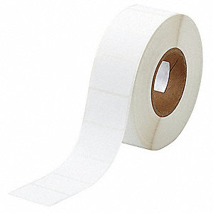 "Label, White, 2-13/64""W x 1-1/2"""
