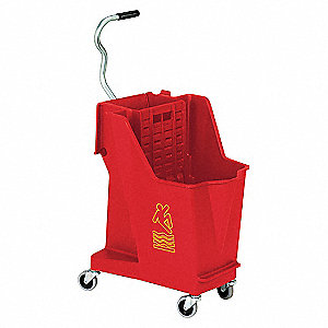 MOP BUCKET AND WRINGER,35 QT.,RED