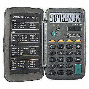 CALCULATOR,POCKET,4-1/4 IN.