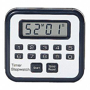 TIMER/STOPWATCH, 99 HRS., 59 MINS,L