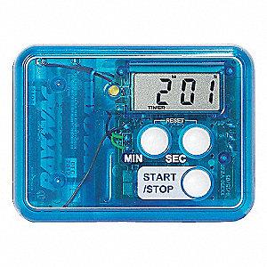 VISUAL ALARM TIMER,1/3 IN. LCD