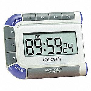 DIGITAL TIMER,3/4 IN. LCD,4 CHANNEL