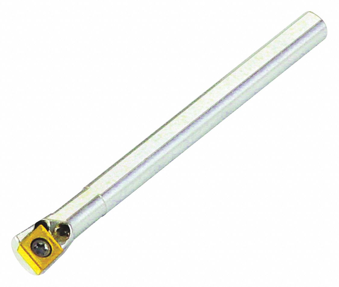 Indexable Boring Bar,  A-SCLC,  Insert Shape 80° Diamond,  Overall Length 3 in