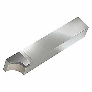 Brazed Tool Bit,RAD,4.5 In L,3/4 In W