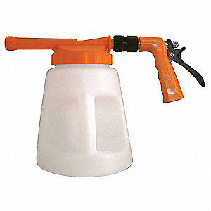 "Safety Orange/White Plastic Spray Foamer, 3/4"" GHT, 1 EA"