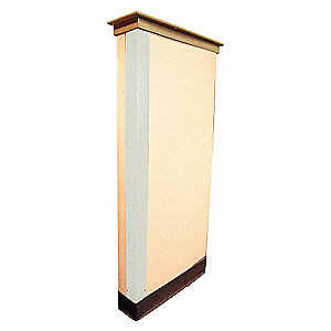 CORNER GUARD,EGGSHELL,1X48IN,ADHESI