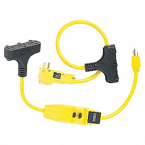 GFCI TRI-CORD,12/3 AWG,3 OUTLET