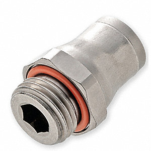 "Connector,Tube x BSPP,1/4"",1/4"""