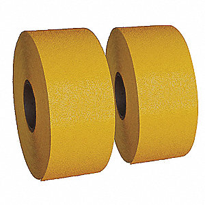 "Preformed Thermoplastic Pavement Markings, Yellow, Rolls, 30 ft. Overall Length, 6"" Overall Width"