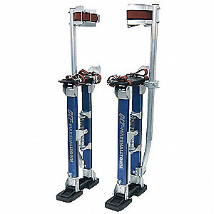 "18 to 30"" Heavy Gauge Overlapping Aluminum Drywall Stilts with Woven Nylon Strap"