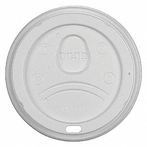 HOT PAPER CUP DOME LID,WHITE,PK 100