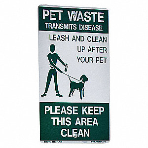 NOTICE SIGN,18 X 12IN,GRN/WHT,ENG,S