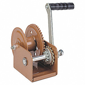 HAND WINCH,SPUR GEAR,W/BRAKE,800 LB