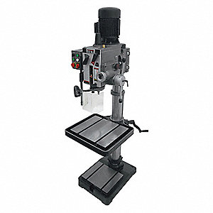 "Floor Drill Press,Geared,20"",2 HP,240V"