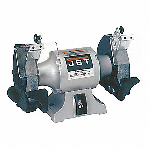 "1-1/2 HP Bench Grinder, 115 Voltage, 1 Phase, 5.0 Amps, 10"" Wheel Dia."