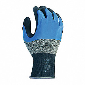 Coated Gloves,XXL,Nitrile,PR