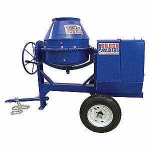 Concrete Mixer,6 Cu. Ft.,Electric,1.5 HP