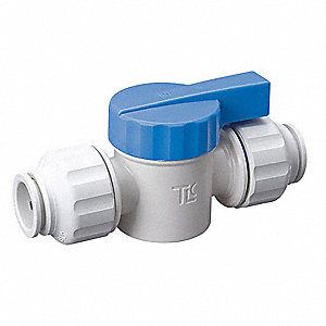 Quarter-Turn Supply Stop, Push Fit Inlet Type, 250 psi