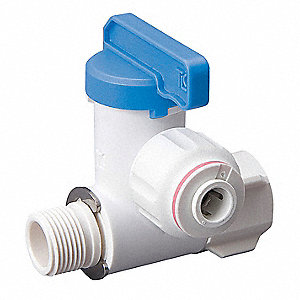 STOP VALVE ADAPTER,PF,1/4 IN,POLY,W