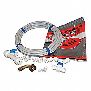 "25""L Polysulfone Dishwasher Install Kit for Dishwashers, Ice Makers, Filtration, Humidifiers, Evapor"