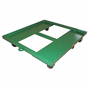 "24""L x 24""W x 5-1/2""H Green General Purpose Dolly, 500 lb. Load Capacity"