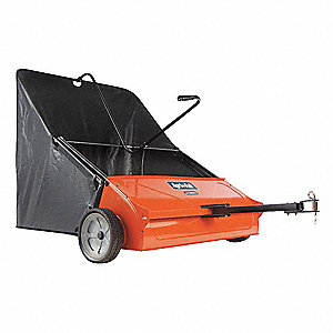 "44"" Tow Lawn Sweeper, 25 cu. ft., Plastic, Height Adjustment -1/2 to 2"""