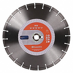 "20"" Wet/Dry Diamond Saw Blade, Segmented Rim Type"