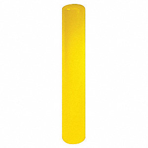 "36"" Fixed Carbon Steel Bollard with 3"" Outside Dia., Yellow"