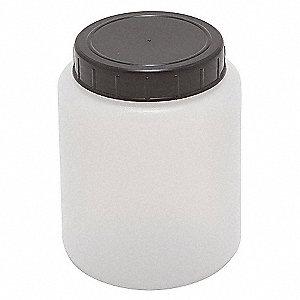 HDPE CYLNDRCL JAR W/CAP 500ML,PK 10
