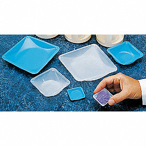 WEIGHING DISH,BLUE,5-1/2 IN. L,PK 5