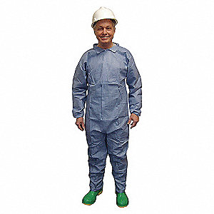 DISPOSABLE COVERALL,BLUE,L,PK25