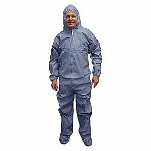 DISPOSABLE COVERALL,BLUE,4XL,PK25