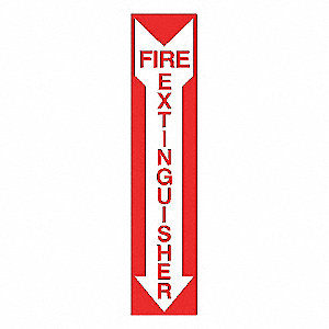 FIRE EXTINGUISHER SIGN,18 X 4IN,WHT