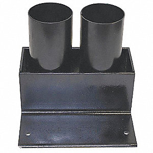"Black Bollard Storage Rack, Removable Locking System, 6"" Bollard Outside Dia."