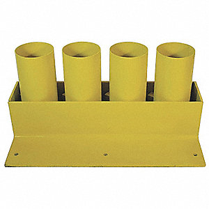 Storage Rack,Cap. 4,6 In,Removable,Yllw