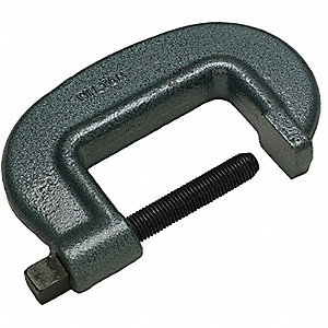 "Extra Heavy Duty Forged Steel C-Clamp, 10-1/4"" Max. Opening, 3-15/16"" Throat Depth, Black"