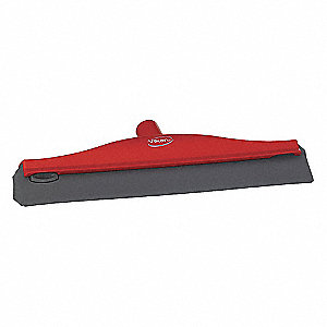 "16""W Straight TPE Rubber Ceiling Squeegee Without Handle, Red"