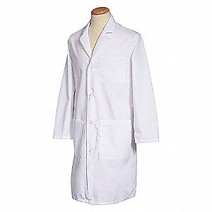 LAB COAT,L,WHITE,41 -1/4 IN. L