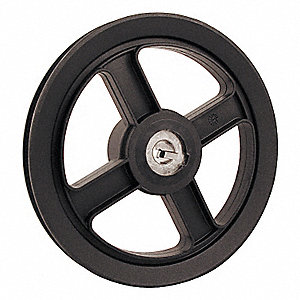V-BELT PULLEY,5.75 IN OD,3/4 BORE,1