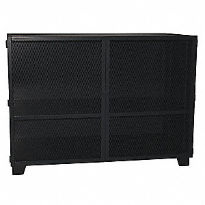Ventilated Storage Cabinet,Mesh,48 In. W