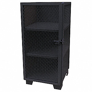"Storage Cabinet, Black, 54"" Overall Height, Assembled"
