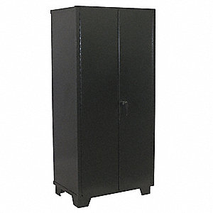 Heavy Duty Storage Cabinet, Black, 78 in H X 60 in W X 24 in D, Assembled