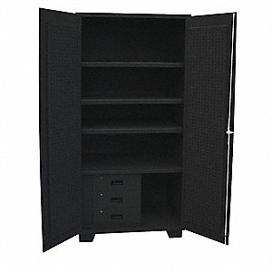 "Combo Drawer,Pgbrd Cab,78""H,48""W,Black"