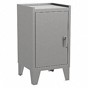"Industrial Storage Cabinet, Gray, 34"" H X 18"" W X 18"" D, Assembled"