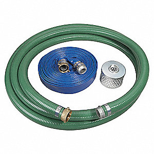 PUMP HOSE KIT,1 1/2 IN ID,WITH STRA